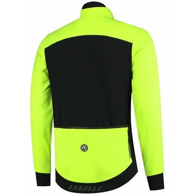 Leichter a extra atmungsaktiv sofshellová Jacke Rogelli INHALT 2.0 mit modern einzelheiten, schwarz-reflektierend yellow 003.143, Rogelli