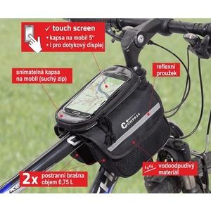Radfahren über Rahmen beidseitig + Telefon Compass, Compass