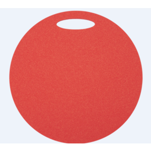 Schemel Yate rund 1 schicht Durchmesser 350 mm rot, Yate