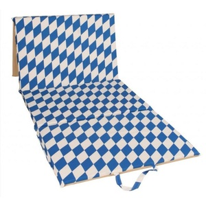 Strand Liegestuhl Faltbar 4 teilig Blue