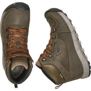 Herren Schuhe Keen Westwärts MID Leather WP M, Dark olive / rost, Keen