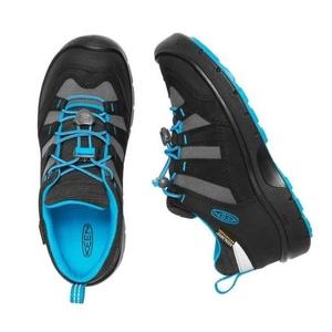 Kinder Schuhe Keen Wanderweg WP Jr., schwarz/blau juwel, Keen