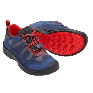 Kinder Schuhe Keen Wanderweg WP Jr., Dress blues / feuer red, Keen