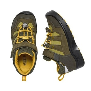 Kinder Schuhe Keen Wanderweg WP K, Dark oliven / zitrusfrüchte, Keen