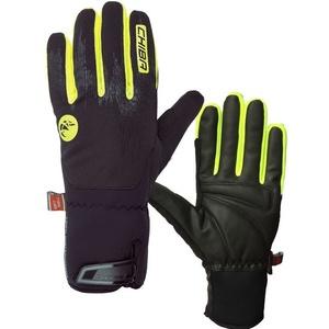 Winter Handschuhe Chiba Dry Star Superlight, schwarz-reflektierend yellow, Rogelli