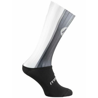 Aerodynamisch funktionell Socken Rogelli AERO, schwarz-grau-weiß 007.003, Rogelli