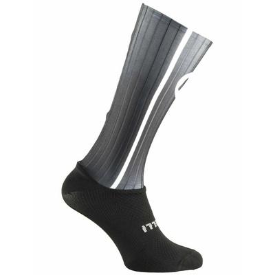 Aerodynamisch funktionell Socken Rogelli AERO, schwarz und grau 007.004, Rogelli