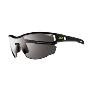 Sonnen Brille Julbo LOOP AERO SP3, black/black Logo yellow, Julbo