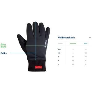 Gestrickte Merino Handschuhe Kama R104 111 dark  grey, Kama