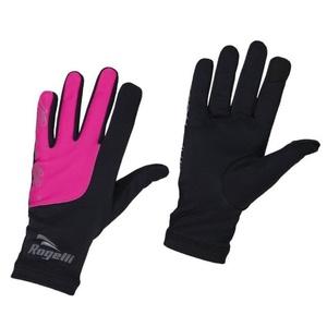 Damen Lauf Winter Handschuhe Rogelli Touch, 890.004. schwarz-reflektierend Pink, Rogelli