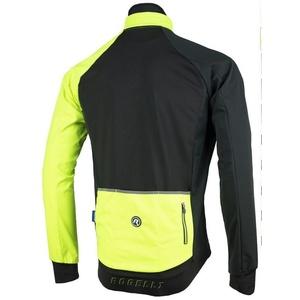 Herren Softshell Jacke Rogelli Inhalt, 003.140 schwarz-reflektierend yellow, Rogelli