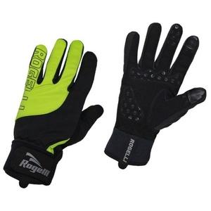 Herren Radsport Handschuhe Rogelli Storm, 006.125. schwarz-reflektierend yellow, Rogelli