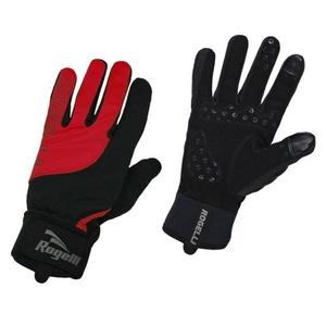 Herren Radsport Handschuhe Rogelli Storm, 006.126. schwarz-rot, Rogelli