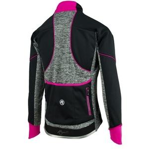 Damen Radsport Jacke Rogelli Carlyn 2.0, 010.306. schwarz-grau-pink, Rogelli