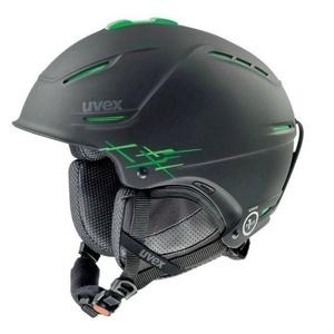 Ski Helm UVEX P1US PRO, schwarz/grün Mat (S566156270*), Uvex