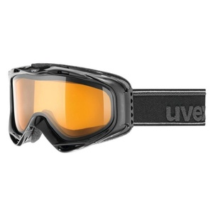 Ski Brille UVEX G.GL 300, black double linsen- / lasergold Lite (2029), Uvex