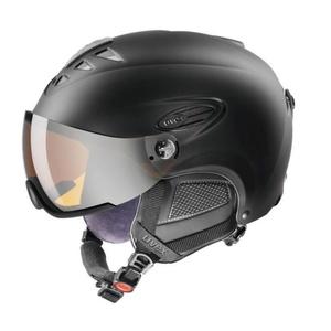Ski Helm UVEX HLMT 300 VISIER, black Mat (S566162220*), Uvex