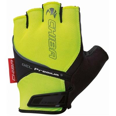 Cyklo Handschuhe Chiba GEL PREMIUM mit gel palme, reflexion yellow 30117.03-1, Chiba