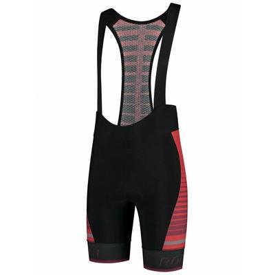 Radsport Shorts Rogelli HERO mit gel futter, schwarz und rot 002.238, Rogelli