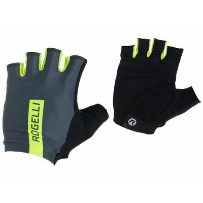 Radsport Handschuhe Rogelli PACE, grau reflektierend yellow 006.382, Rogelli