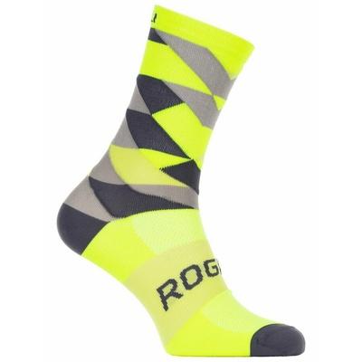 Design funktionell Socken Rogelli RAHMEN 14, nachdenklich gelb-schwarz-grau 007.152, Rogelli