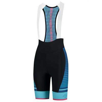 Damen Radshorts Rogelli IMPRESS mit gel futter, schwarz-blau-pink 010.287, Rogelli