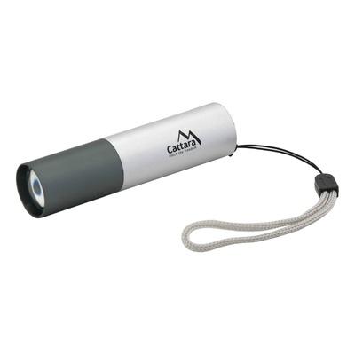 Leuchte Taschen- LED Cattara 120lm ZOOM aufladen SILVER, Cattara