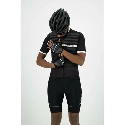 Radhandschuhe Rogelli STRIPE, schwarz und weiß 006.310, Rogelli