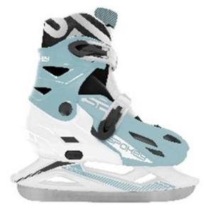 Winter Skates Spokey KRÄUSELUNG weiß und blau geregelt, Spokey