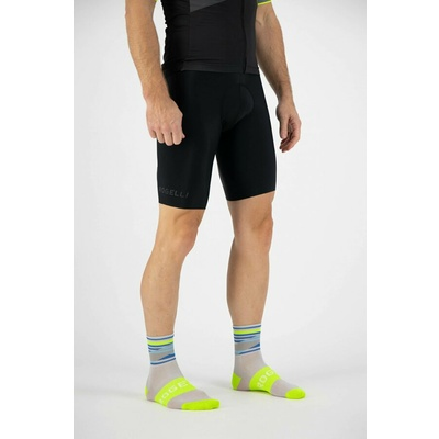 Design funktionell Socken Rogelli STRIPE, grau-blau-reflektierend yellow 007.204, Rogelli