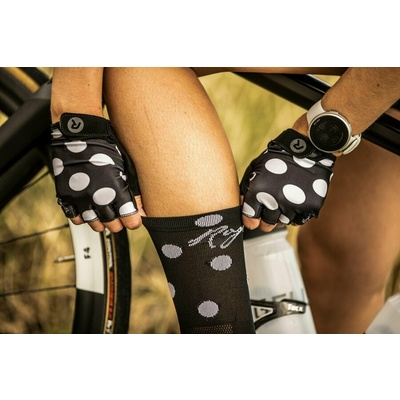 Damen Radhandschuhe Rogelli SPRINKEL, schwarz und weiß 010.617, Rogelli