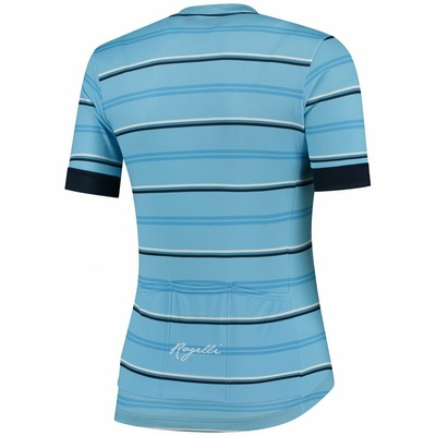 Damen Radsport Dress Rogelli STRIPE mit kurz Ärmeln, blau 010.147, Rogelli