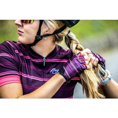 Damen Handschuhe  Fahrrad Rogelli STRIPE, burgunderrosa 010.622, Rogelli
