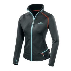 Damen Sweatshirt Ferrino Schwanzlich Jacket Woman black, Ferrino