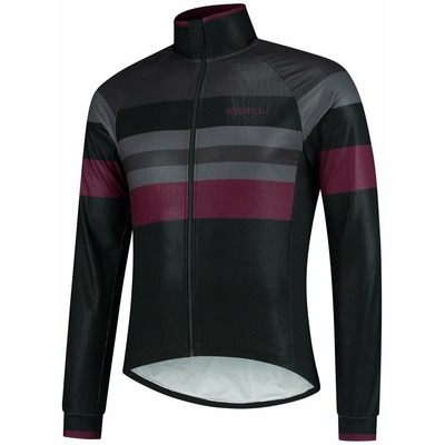 Ultraleichter Radsport Jacke Rogelli PEAK, schwarz-grau-burgund 003.036, Rogelli