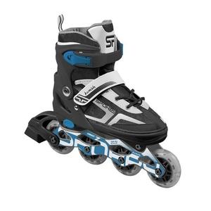Einstellbar Roller Skates Spokey BURNISH ABEC7 Carbon, grau/blau, Spokey