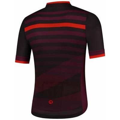 Trikot Rogelli STRIPE mit kurz Ärmeln, schwarz-burgunderrot 001.103, Rogelli