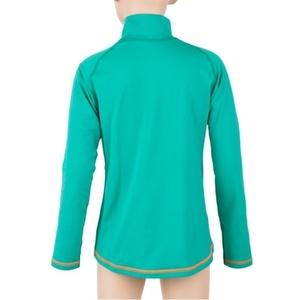 Kinder T-Shirt Sensor Thermo Langärmel Zip hellgrün / ufo, Sensor