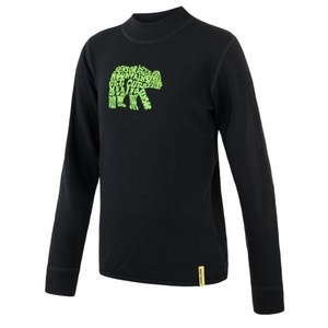Kinder T-Shirt Sensor Merino DF Bear black, Sensor