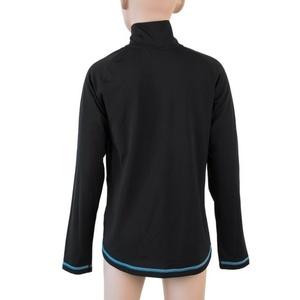 Kinder T-Shirt Sensor Thermo Langärmel Zip schwarz / ufo, Sensor