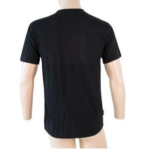 Herren T-Shirt Sensor MERINO ACTIVE PT LABEL Kurzarm black 18200015, Sensor