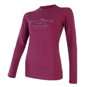 Damen T-Shirt Sensor MERINO DF LABEL lilla 18200020, Sensor