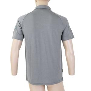 Herren Polo T-Shirt Sensor Merino Active, grey 19100003, Sensor