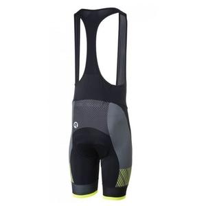 Cyklo Shorts Rogelli RITMO mit gel futter, schwarz-reflektierende yellow, Rogelli