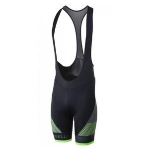 Cyklo Shorts Rogelli RITMO mit gel futter, schwarz-reflektierende green 002.264., Rogelli