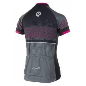 Freer Ladies Radsport Dress Rogelli BELLA mit kurz Ärmeln, grau-schwarz-pink 010.159, Rogelli
