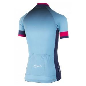 Damen premium Trikot Rogelli FLOW mit kurz Ärmeln, blau-pink 010.173, Rogelli