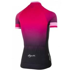 Damen premium Trikot Rogelli FLOW mit kurz Ärmeln, pink-schwarz 010.174., Rogelli