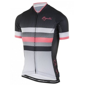Am atmungsaktivsten Ladies Trikot Rogelli DOT- mit kurz Ärmeln, grau-schwarz-pink 010.176., Rogelli