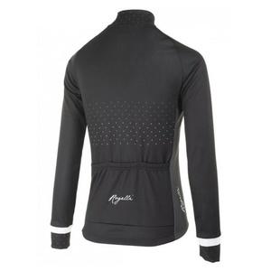 Warm Ladies Trikot Rogelli PRIDE mit langen Ärmeln, schwarz und weiß 010.180, Rogelli